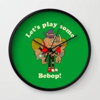 bebop Wall Clocks featuring Bebop by Giovanni Costa