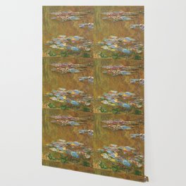 Monet, The Water Lily Pond 1917 Wallpaper