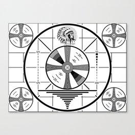 Indian-Head Test Pattern Canvas Print