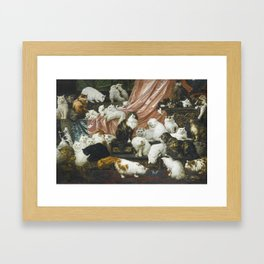 My Wife's Lovers by Carl Kahler 1883 Famous Cat Painting Framed Art Print