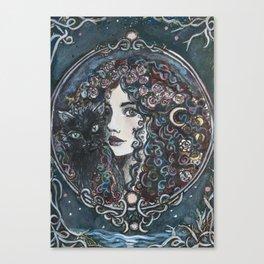 Rosa Lune Canvas Print