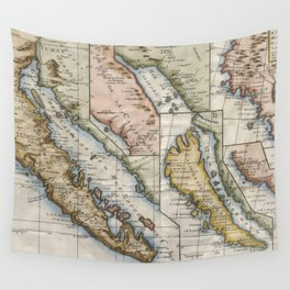 Vintage Map of California (1772) Wall Tapestry