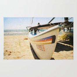 Sailboat on the Beach Rug