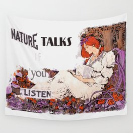 Nature Talks if You Listen Wall Tapestry