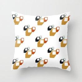 Retro geometry pattern  Throw Pillow