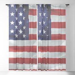 The American Flag Sheer Curtain