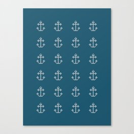 Anchor Beads // Navy Blue Canvas Print