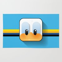 donald duck Area & Throw Rugs featuring donald duck by designoMatt