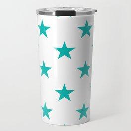 Stars (Eggshell Blue/White) Travel Mug