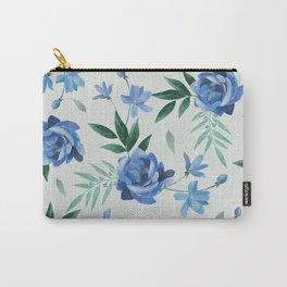 Paper-cut floral denim Carry-All Pouch