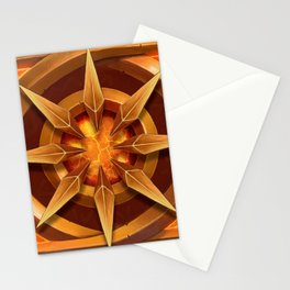 The gold star of the deep torch Stationery Cards