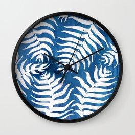 Caribean Blue Palms Wall Clock