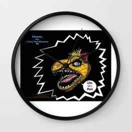 """SHMUT, The Valley-Girl Dinosaur: sez """"Like, Grr, Man Wall Clock"""