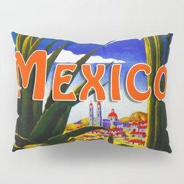 Vintage Mexico Village Travel Pillow Sham