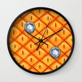 A pineapple under the sea Wall Clock