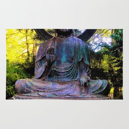 Buddha in the park Rug