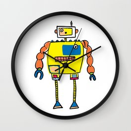 Classic Mr. Orange Super Robot Wall Clock