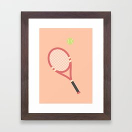 #19 Tennis Framed Art Print