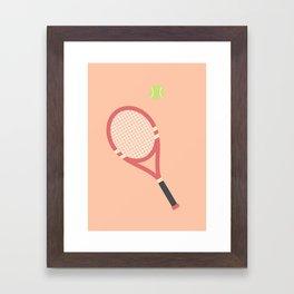 #19 Tennis Framed Art Print