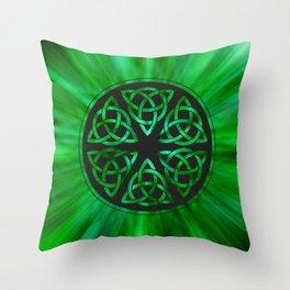 Celtic Knot Star Flower Throw Pillow