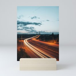 Highway Lights Mini Art Print