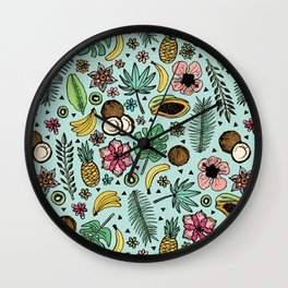 Tropical Fiesta Wall Clock
