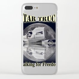 Star Truck - The moon and the Truck Clear iPhone Case