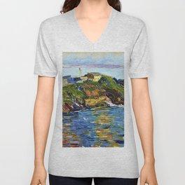 "Wassily Kandinsky ""Rapallo Bay, early morning"" (1906) Unisex V-Neck"