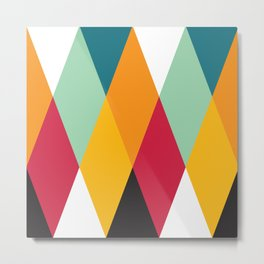Geometric Pattern #27 (yellow orange red green) Metal Print