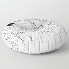 Thought Experiment Support Group Floor Pillow