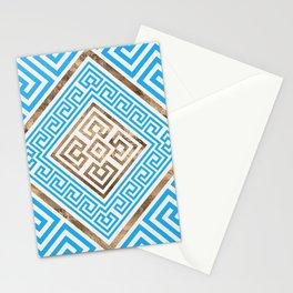 Greek Key Ornament - Greek Meander -Rhombus #1 Stationery Cards