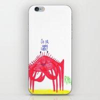 cuddle iPhone & iPod Skins featuring Wanna Cuddle? by Ryan van Gogh