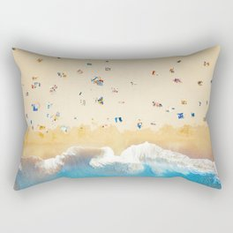 Beach Colors | Aerial Drone Photography  Rectangular Pillow