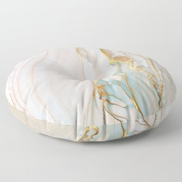 Blush Gold Alcohol Ink Abstract 1 Floor Pillow
