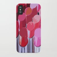 lipstick iPhone & iPod Cases featuring Lipstick by Love2Snap