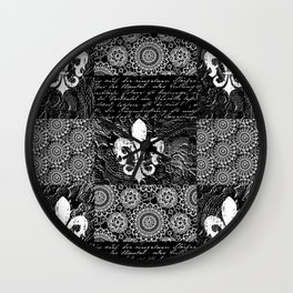 Black and white lace Wall Clock