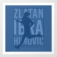 zlatan Art Prints featuring Zlatan Ibrahimovic by Mountain Top Designs