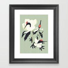 Crane Flower(鶴花) Framed Art Print