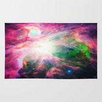nebula Area & Throw Rugs featuring Orion NebuLA Colorful Purple by 2sweet4words Designs