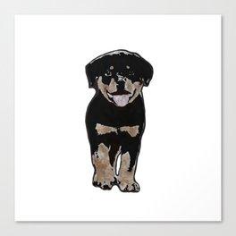 Rottweiler Love Canvas Print