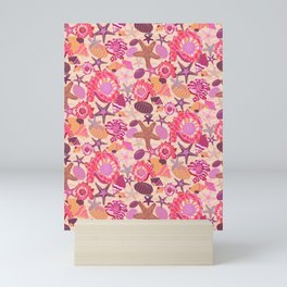 Under the Ocean Waves-Pink Coral Edition Mini Art Print