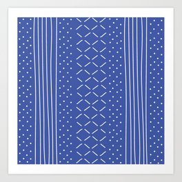 Milenesa Blue Mud Cloth Art Print