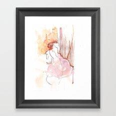 Cloud Mouth: Orange and Magenta Framed Art Print