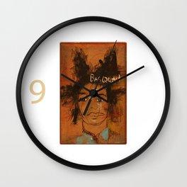 50 Artists: Jean Michel Basquiat Wall Clock