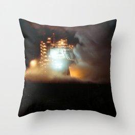 A-1 Test Stand Night Firing Throw Pillow