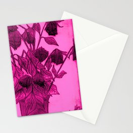 DIEING ROSES Stationery Cards