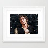 han solo Framed Art Prints featuring Han Solo by Raiecha