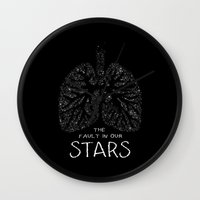 the fault in our stars Wall Clocks featuring The Fault in Our Stars by Call me Calliope