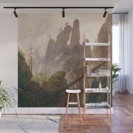 Caspar David Friedrich - Rocky ravine in the Elbe Sandstone Mountains Wall Mural