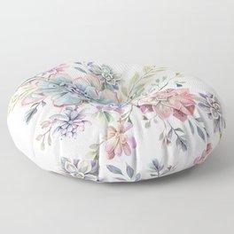 succulent watercolor 6 Floor Pillow